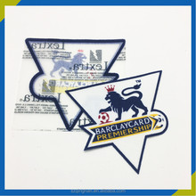 BARCLAYCARD champions league badge heat transfer 3d flock patch for clothing