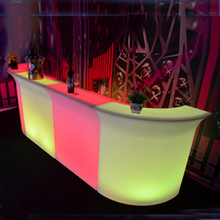 Portable plastic outdoor color changeable led lighted bar counter