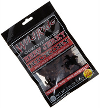 3 side seal ziplock plastic beef jerky packaging bag with euro slot