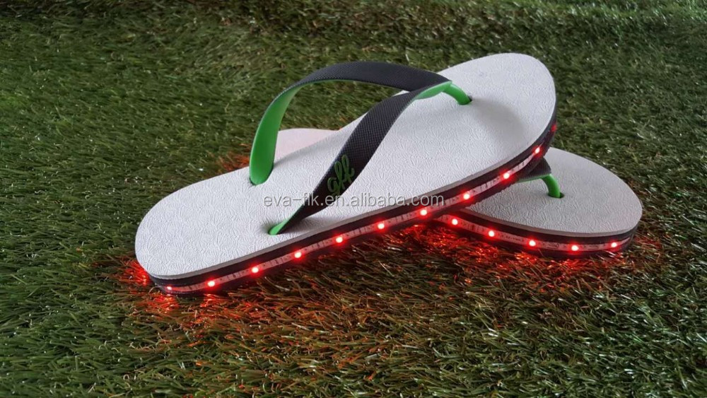 Rechargeable LED Flip Flops