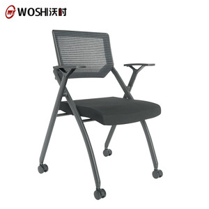 BIFMA Standard Training Chair Folding Conference Chair With Writing Pad,Pp Writing Chair