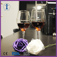 wholesale Cheap good quality wine glass thick stem, silicone wine glass