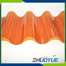 soundproof 0.8mm uv resistant transparent plastic roof tiles with great price