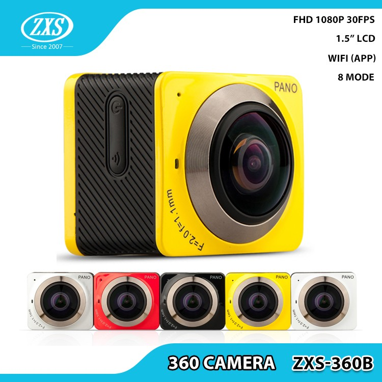 2017 new wifi 360 action camera full HD 1080p waterproof sport camera