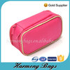 NEW Fashion Pink plain girls 2 compartment cosmetic bag