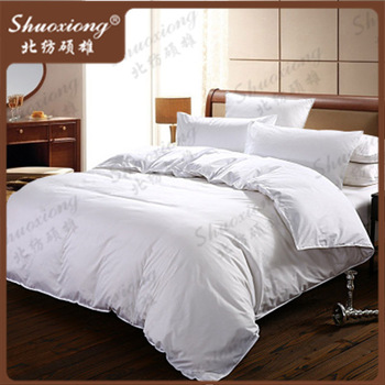 Cheap queen king size white cotton bedding sets/ western hotel twin discount bedding set