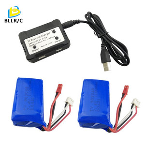 7.4V 1100mAh Lithium Battery For WLtoys A949 A959 A969 A979 S989 V912 T23 T55 F45 With Charger