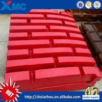 manganese steel jaw plate for jaw crusher wear parts