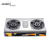china reasonable price durable price ideal grateful double burner stainless steel top gas stove