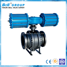Stainless Steel 4 Inch Trunnion Ball Valve with Pneumatic Actuator