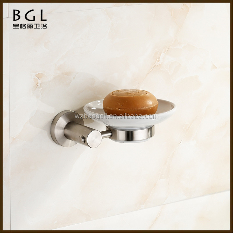 Modern Kitchen Hotel Decorative Stainless Steel Nickel Name Of Toilet Accessories Wall Mounted Soap Dish