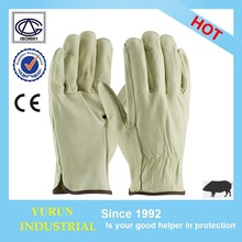 Pig grain Wrok driver safety working leather driving glove