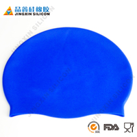 Hot Sale Waterproof Fashionable Dongguan Hat Solid Soft Silicon Swimming Caps