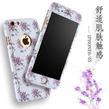 2016 New Product 360 Full Floral Leopard Plastic Phone Case for iphone 6 6 plus