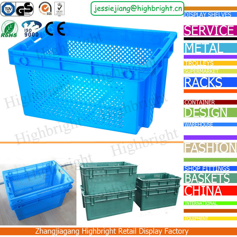 large strong agriculture plastic crates