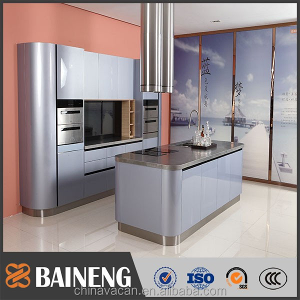 new arrival waterproof stainless steel kitchen cabinet manufactured by Guangzhou Baineng