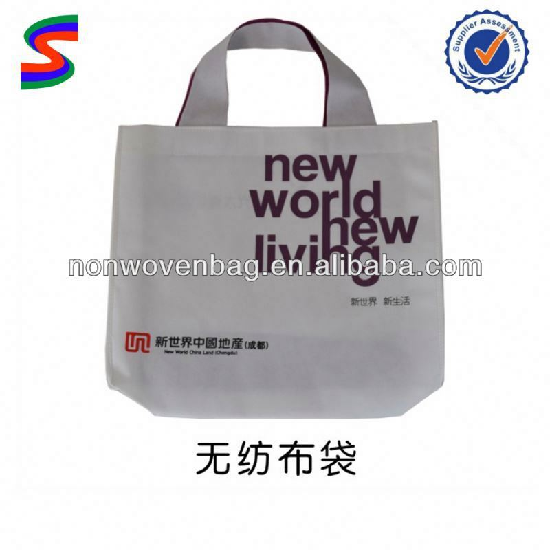 Silk Printed Non Woven Bag Recyclable Non Woven Shopping Bag With Button