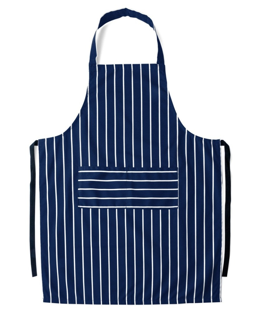 custom blue striped chef uniform wholesale