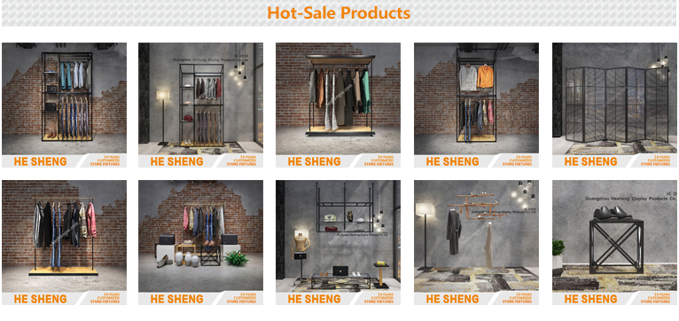 Display cabinet group. clothing store fixtures. industrial style HA01L05