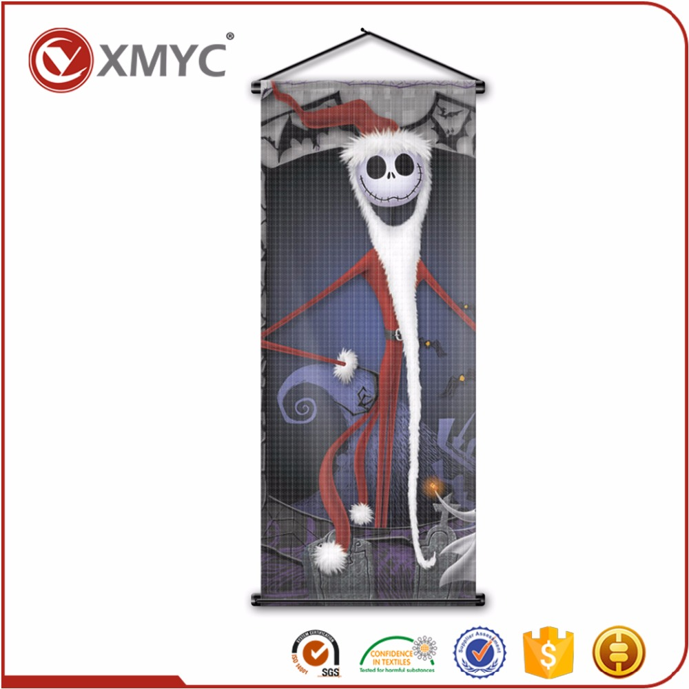 Parties Festivals Christmas Santa Jack Nightmare Before Christmas Souvenirs Indoor Decors Room Kind Sublimation Flag