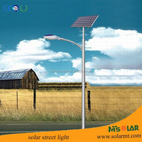 Outdoor energy saving solar street light with panel, battery