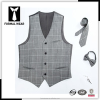 Custom Fashion Mens New Wool Waistcoat/ vest with tie and bowtie set