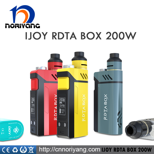 100% Authentic IJOY RDTA BOX 200W Starter Kit 200W Box Mod with 12.8ml Tank