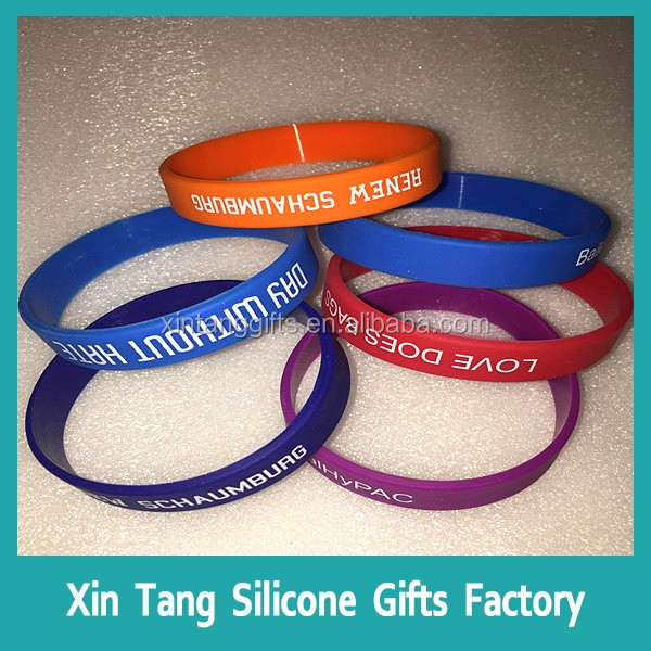 Colorful Cheap Silicone Slap Bracelets / Sport Bracelet Silicone String