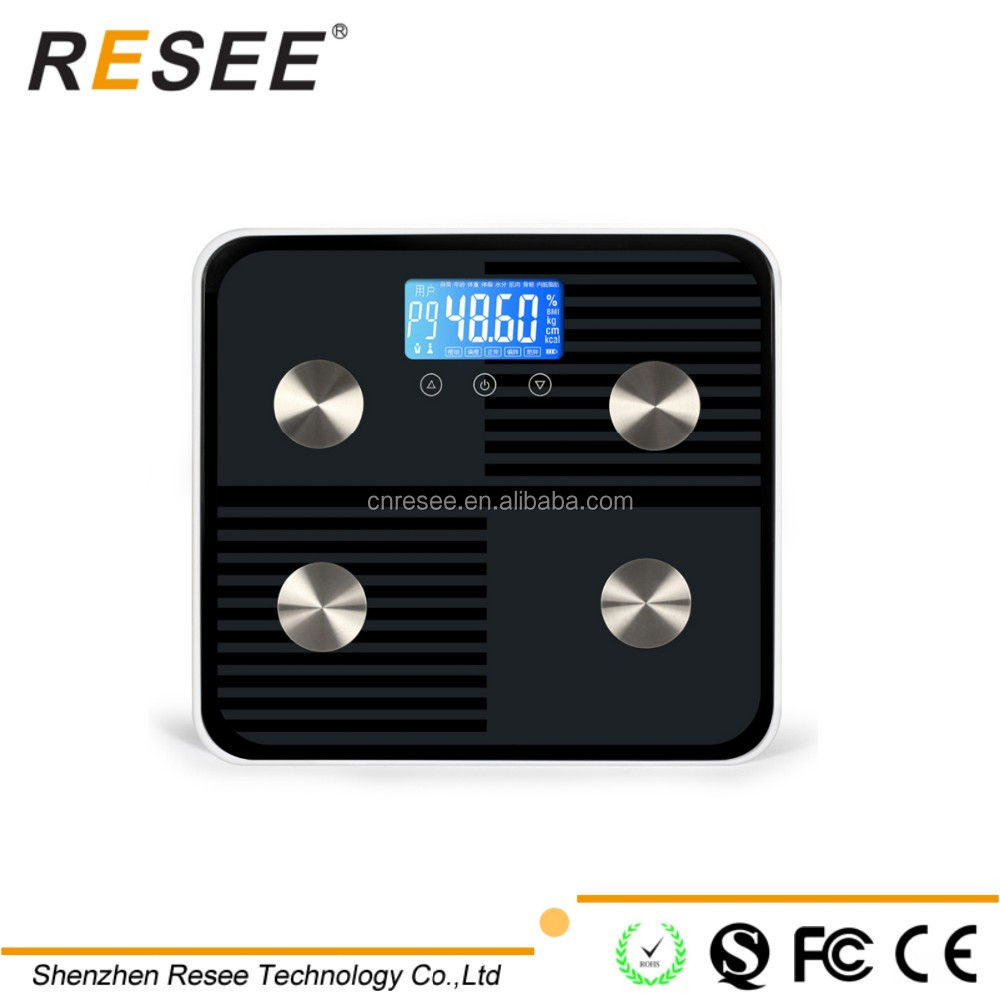 RESEE body analysis system bluetooth bathroom weighing <strong>scale</strong>