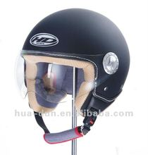 high quality leather ECE Certification OPEN/half Face Motorcycle helmet from HUANDUN MANUFACTUER HD-592 leather helmet