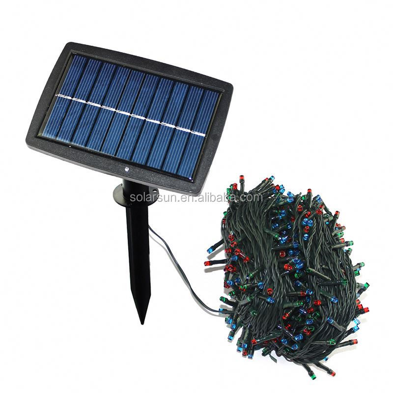 The new European manufacturers selling 100 LED solar string lights festival decorative lights garden lights exports