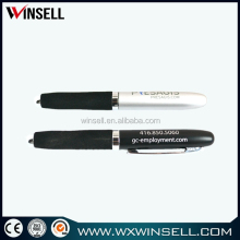 black metal ballpoint pen with rubber grip