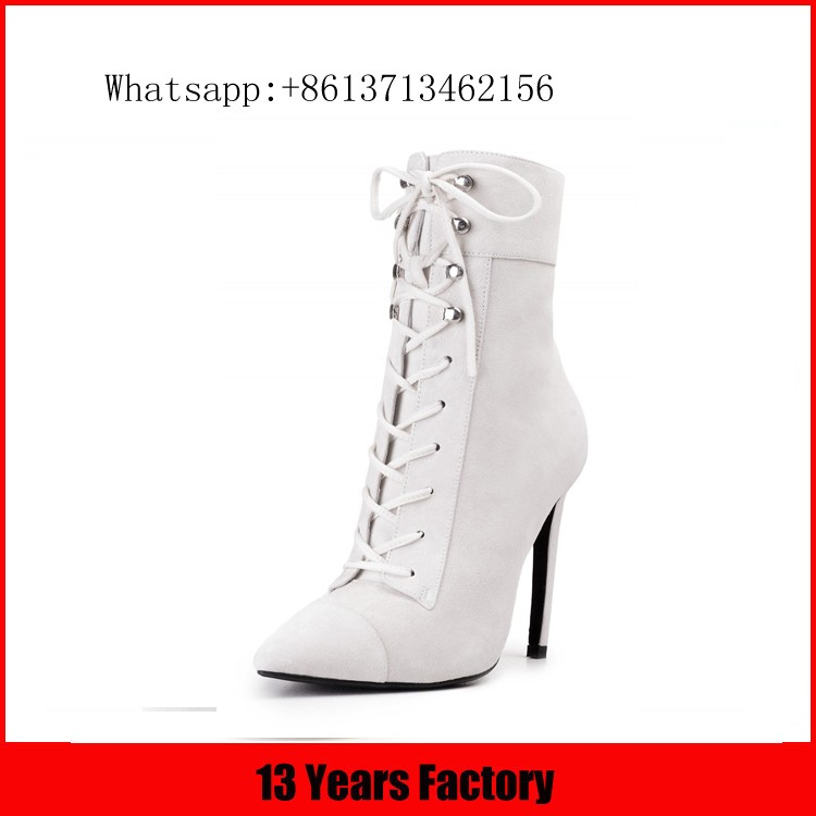 Fashion style new design leather upper transparent heel boots for womens