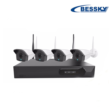 Bessky h.265 4ch 4mp outdoor video surveillance system standalone cctv nvr wireless kit best home wireless camera system