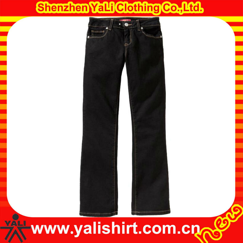 women black classic style jeans
