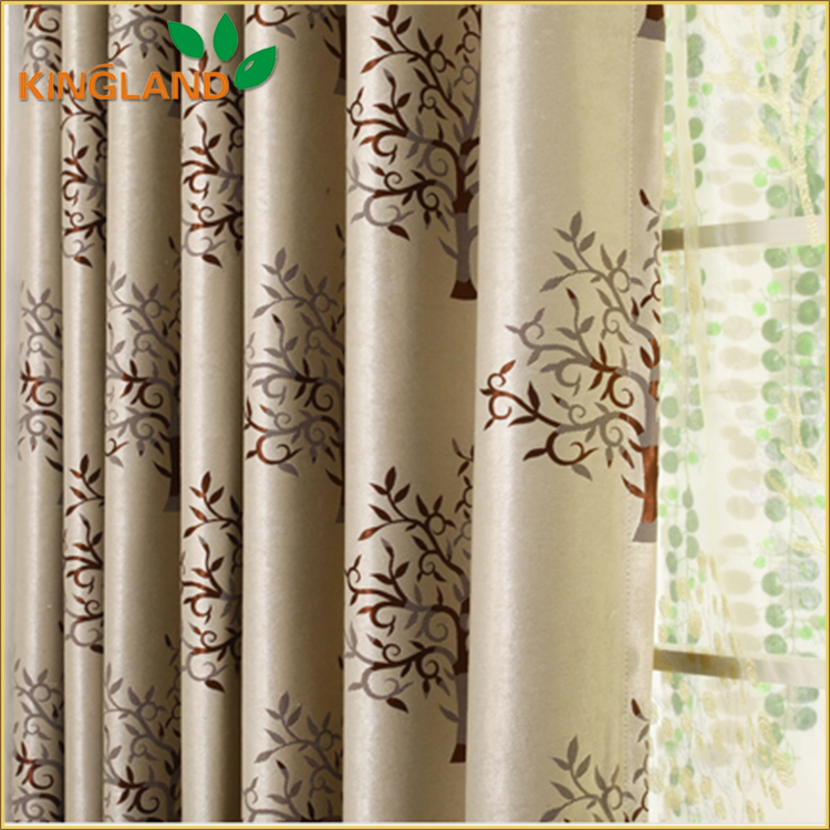 100% Polyester Wholesale Readymade Chinese Style Curtains