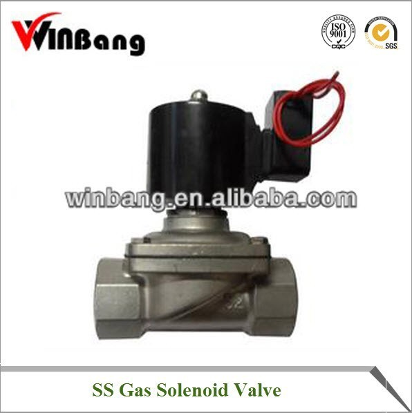 High Quality 2/2way Pilot Operated Direct Acting Normally Open Solenoid Valve