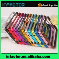 Mobile phone cover case buckle metal frame with key for Samsung Galaxy S3