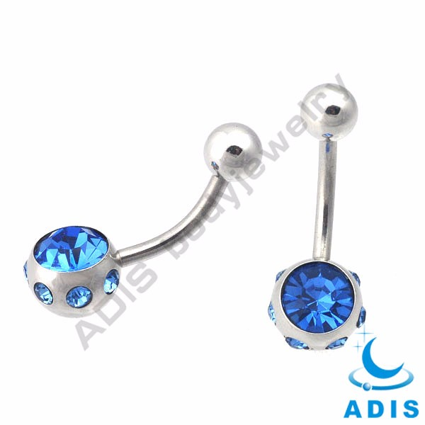 PVD coated Black Epoxy Covered Flat belly button navel piercing ring