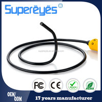 Supereyes N013J 100X waterproof 8 mm USB digital endoscope borescope flexible snake inspection camera with side mirrors