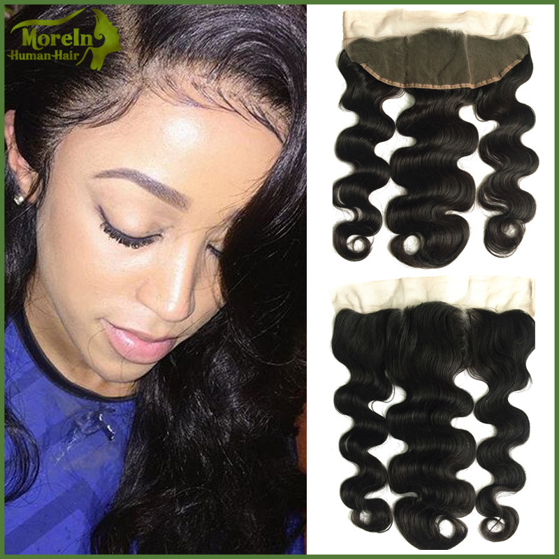 8A Virgin Brazilian hair extension 13x4 Body Wave Human Hair Ear To Ear Elastic Band Lace Frontal Closure