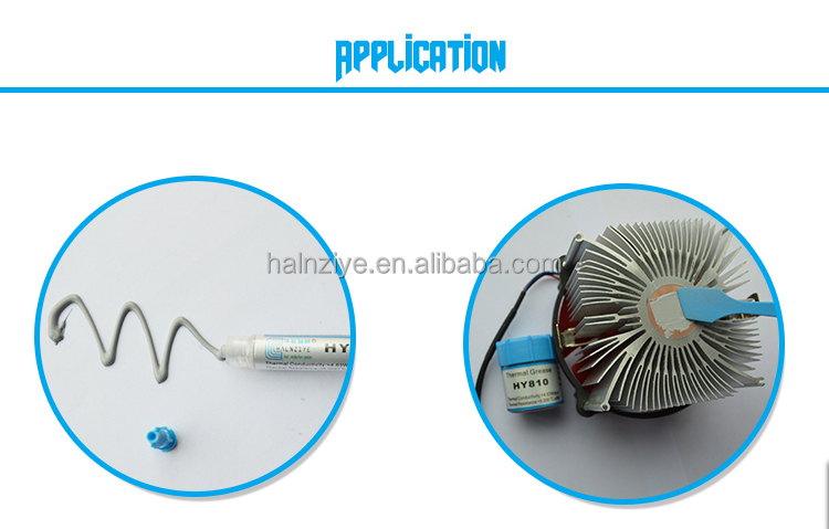 Silisone Grey Thermal Paste/Grease with High conductivity Performance Applying in Laptop or Notebook CPU cooler