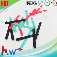 2016 Hot selling Reusable silicone adjustable cable tie