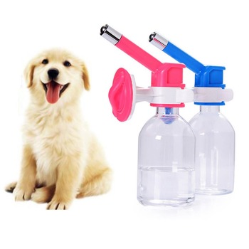 pet Dog Hanging Bottle water Drinking Dispenser Fountain Head Feeder 6 Colors AC5790
