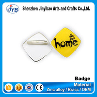 factory direct price metal button blank plastic pin badges