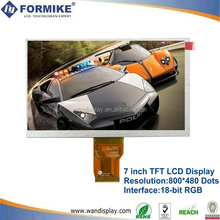 7inch resistive touch lcd screen 800x480 Pixels(KWH070KQ38-F03 V.2)