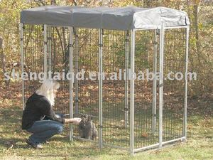 The small 4' x 8' x 6' Model Dog Cage House