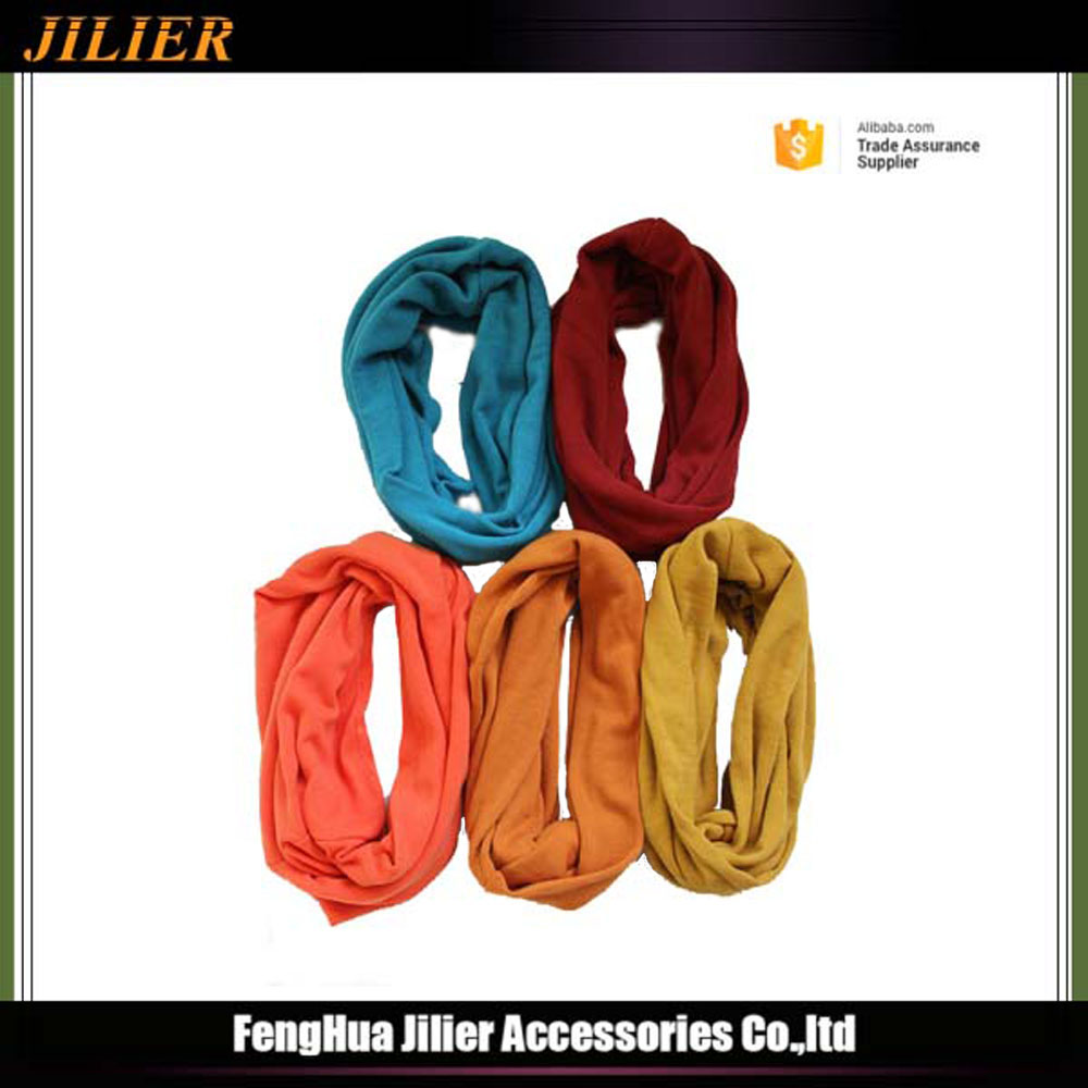 Jilier 2016 winter Candy color Cotton neck tube round scarf