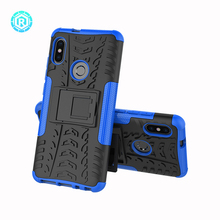 For Redmi note 5 pro TPU PC hybrid case 2 in1 back cover shockproof kickstand case for Xiaomi 6X