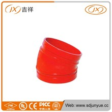 Export To UAE Market 22.5 Degree Drainage Elbow Dimension For Fire Fightingfrom JX casting factory